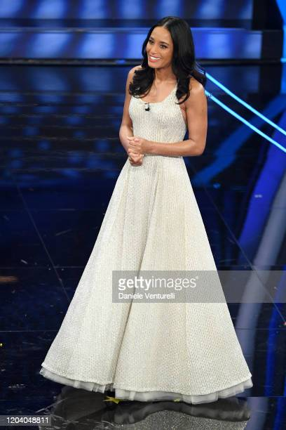 Rula Jebreal attends the 70° Festival di Sanremo at Teatro Ariston on February 04 2020 in Sanremo Italy