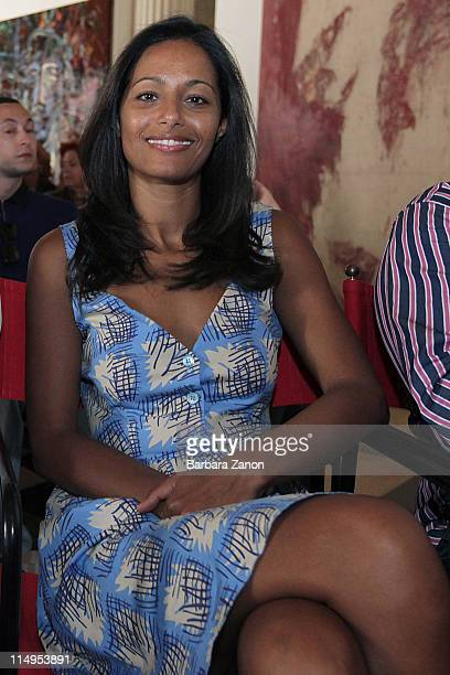 Rula Jebreal attends the preview of 'Permanently Becoming And The Architecture of Seeing' at Correr Museum at on May 31 2011 in Venice Italy The...