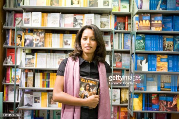 Rula Jebreal PalestinianIsraeli foreign policy analyst journalist novelist and screenwriter portrait Monforte D'alba Italy 11th November 2007