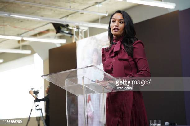 Rula Jebreal speaks during Prada Shaping a Sustainable Future Society conference in New York on November 08 2019 in New York City