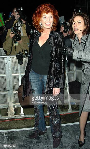 Rula Lenska and Davina McCall during Celebrity Big Brother 4 Third Eviction at Elstree Studios in Borehamwood Great Britain