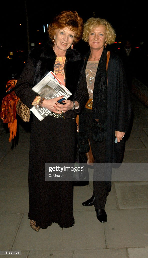 Rula Lenska and guest during Born Free Foundation Celebrity Private View and Cocktail Party at 21 in London, Great Britain.