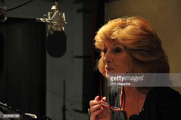 Rula Lenska at the BBC studios recording a Doctor Who audiobook London June 23 2009
