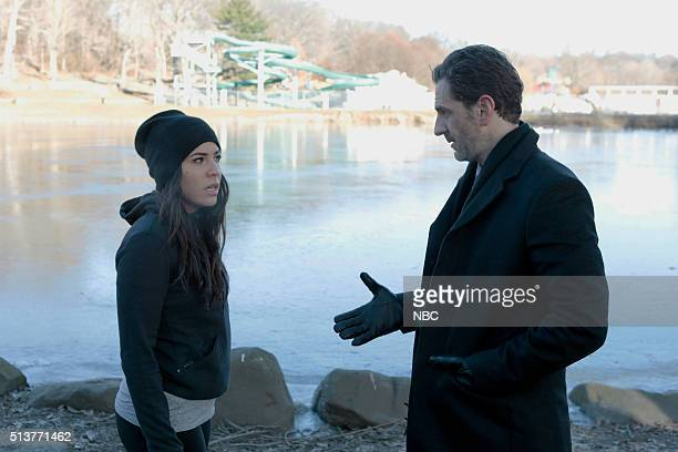 BLINDSPOT 'Rules In Defiance' Episode 114 Pictured Audrey Esparza as Zapata Aaron Abrams as Weitz