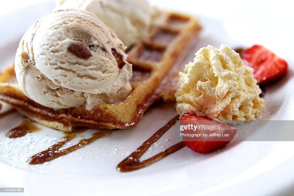 Rum & Raisin Waffles : Stock Photo