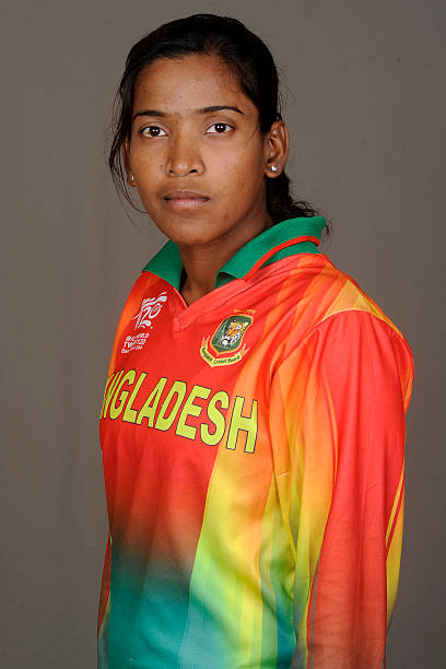 Rumana Ahmed of Bangladesh poses for a portrait during the women's headshot session before the start of the ICC Women's World T20 at the Sylhet...