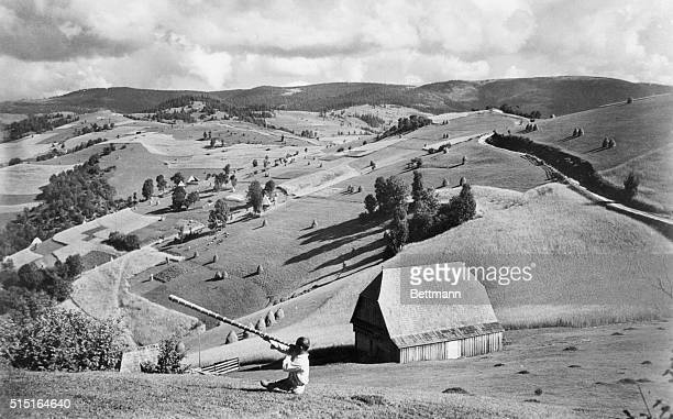 In Rumania's Mountainous Transylvania A view in the Apuseni Mountains in Rumania's Transylvania Large forces of troops were reported massed in...