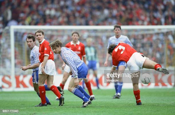 Rumbelows Cup Final at Wembley Stadium Nottingham Forest 0 v Manchester United 1 Action from the match Andrei Kanchelskis of United 12th April 1992