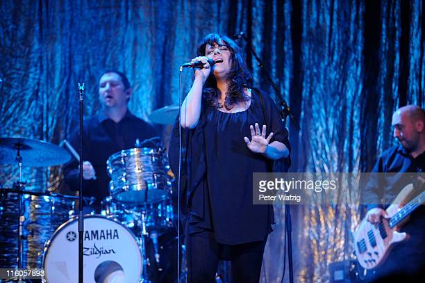 Rumer performs on stage at the Gloria Theatre on June 14 2011 in Cologne Germany