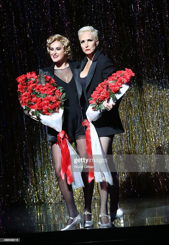 Rumer Willis and Amra Faye Wright perform as Rumor makes her broadway debut as 'Roxie Hart' in Broadway's 'Chicago' on Broadway at The Ambassador Theater on September 21, 2015 in New York City.