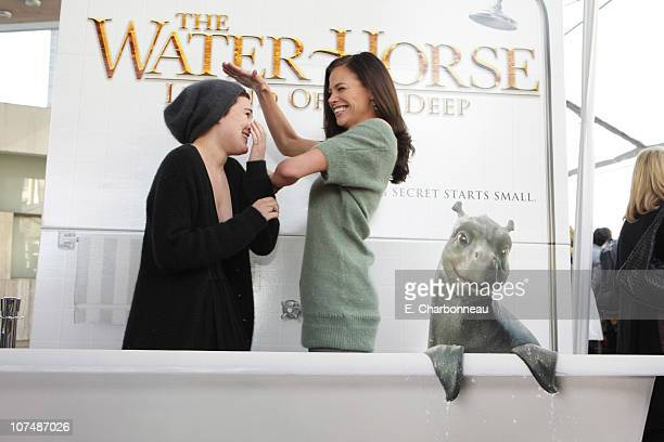 Rumer Willis and Brooke Burns at the Premiere of Revolution Studios' Walden Media's and Beacon Pictures' The Water Horse Legend of the Deep on...