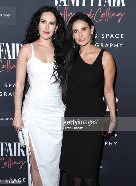 Rumer Willis and Demi Moore arrives at the Vanity Fair: Hollywood Calling - The Stars, The Parties And The Power Brokers at Annenberg Space For...