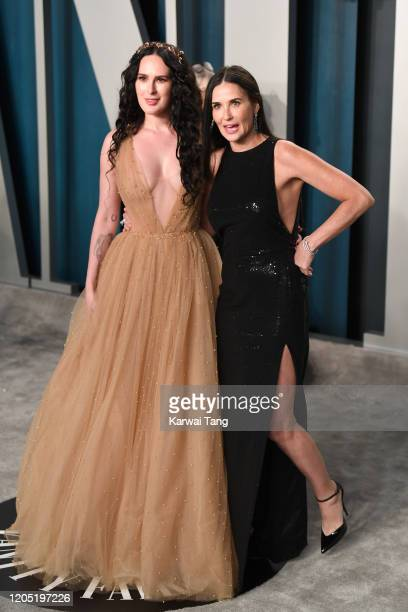 Rumer Willis and Demi Moore arriving for the 2020 Vanity Fair Oscar Party Hosted By Radhika Jones at the Wallis Annenberg Center for the Performing...
