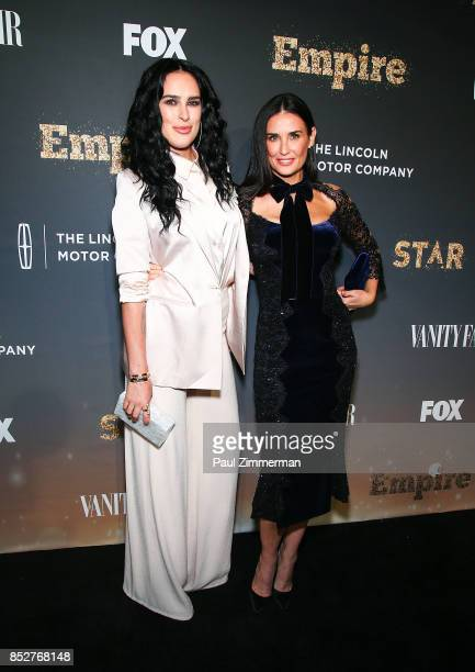 Rumer Willis and Demi Moore attend Empire Star Celebrate FOX's New Wednesday Night Red Carpet at One World Observatory on September 23 2017 in New...