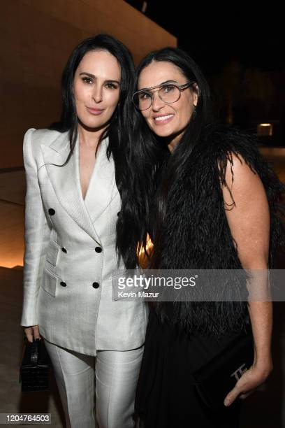 Rumer Willis and Demi Moore attend the Tom Ford AW20 Show at Milk Studios on February 07, 2020 in Hollywood, California.