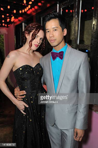 Rumer Willis and Jared Eng attend Just Jared's 30th at Pink Taco on March 23 2012 in Los Angeles California