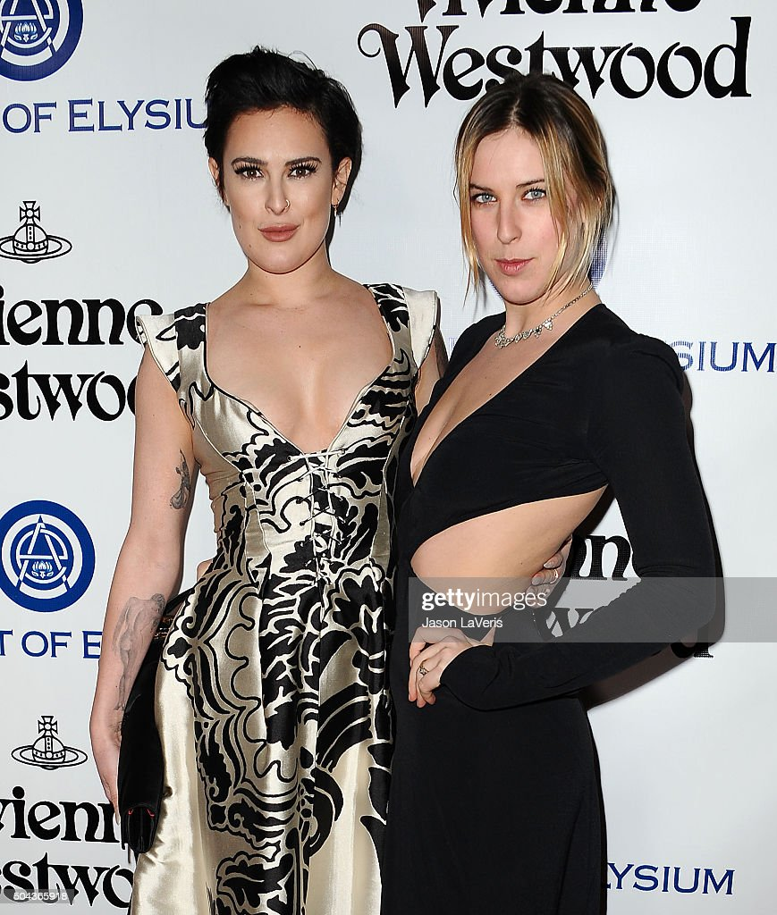 Rumer Willis and Scout LaRue Willis attend Art of Elysium's 9th annual Heaven Gala at 3LABS on January 9, 2016 in Culver City, California.