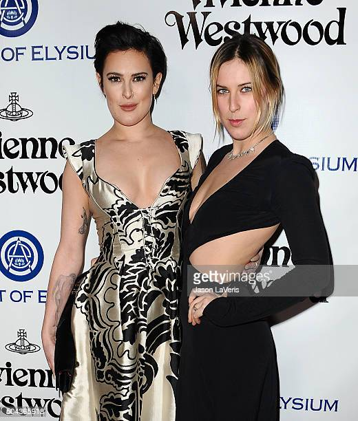 Rumer Willis and Scout LaRue Willis attend Art of Elysium's 9th annual Heaven Gala at 3LABS on January 9 2016 in Culver City California