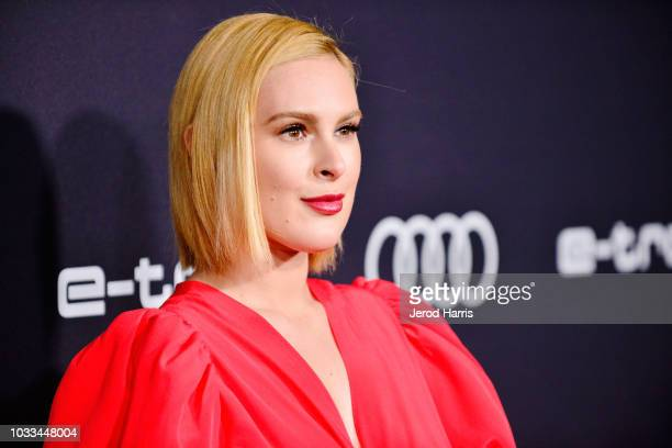 Rumer Willis arrives at Audi Celebrates The 70th Emmys at Kimpton La Peer Hotel on September 14 2018 in West Hollywood California