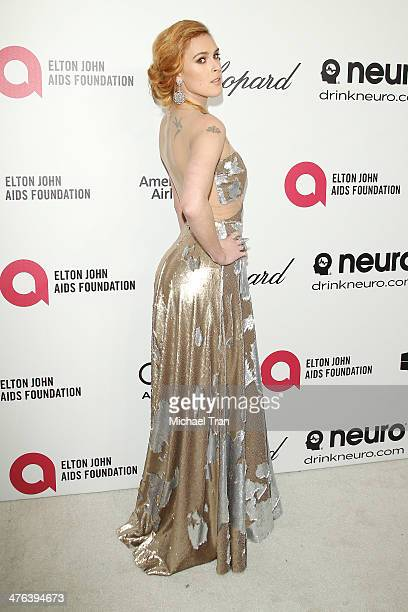 Rumer Willis arrives at the 22nd Annual Elton John AIDS Foundation's Oscar viewing party held on March 2 2014 in West Hollywood California