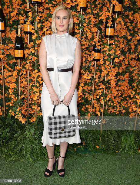 Rumer Willis arrives at the 9th Annual Veuve Clicquot Polo Classic Los Angeles at Will Rogers State Historic Park on October 6 2018 in Pacific...