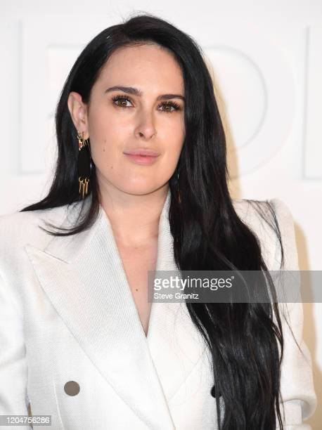 Rumer Willis arrives at the Tom Ford AW20 Show at Milk Studios on February 07, 2020 in Hollywood, California.