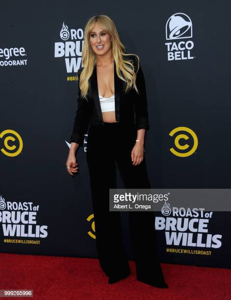 Rumer Willis arrives for the Comedy Central Roast Of Bruce Willis held at Hollywood Palladium on July 14 2018 in Los Angeles California