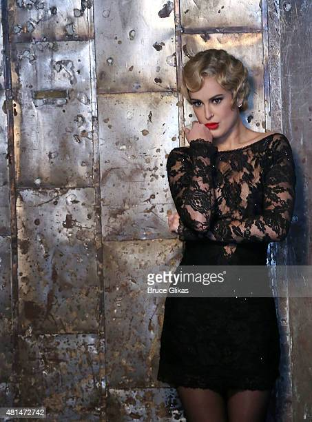 Rumer Willis as Roxie Hart behind the scenes at a photo shoot for her broadway debut in Chicago on Broadway at The Highline Studios on July 20 2015...