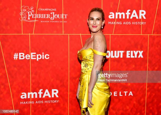 Rumer Willis attends amfAR Los Angeles 2018 at Wallis Annenberg Center for the Performing Arts on October 18 2018 in Beverly Hills California