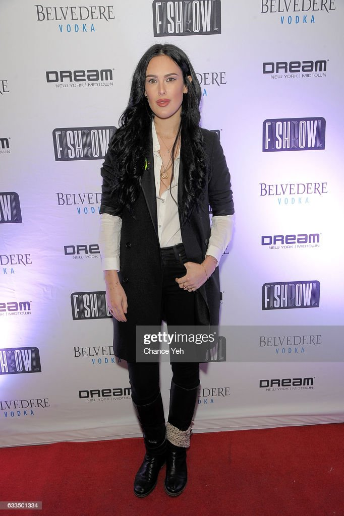 Rumer Willis attends FISHBOWL grand opening party at Dream Midtown on February 1, 2017 in New York City.
