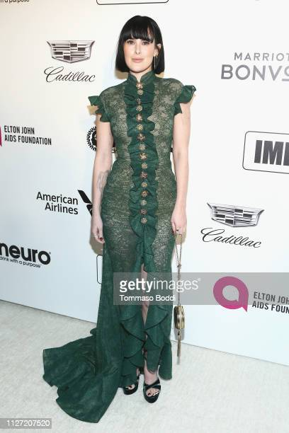 Rumer Willis attends IMDb LIVE At The Elton John AIDS Foundation Academy Awards® Viewing Party on February 24 2019 in Los Angeles California