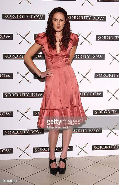 Rumer Willis attends photocall for 'Sorority Row' at Vue West End on August 26, 2009 in London, England.