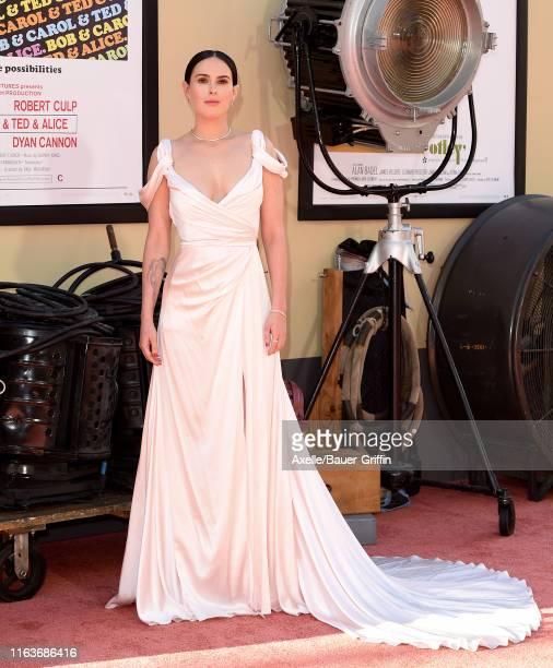 Rumer Willis attends Sony Pictures' Once Upon a Time in Hollywood Los Angeles Premiere on July 22 2019 in Hollywood California