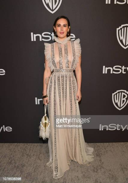 Rumer Willis attends the 2019 InStyle and Warner Bros 76th Annual Golden Globe Awards PostParty at The Beverly Hilton Hotel on January 6 2019 in...