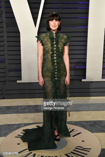 Rumer Willis attends the 2019 Vanity Fair Oscar Party hosted by Radhika Jones at Wallis Annenberg Center for the Performing Arts on February 24 2019...