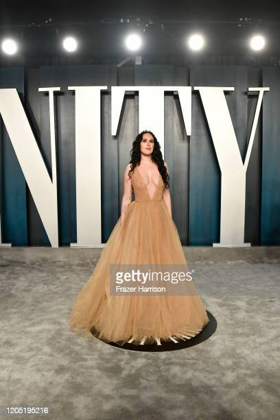 Rumer Willis attends the 2020 Vanity Fair Oscar Party hosted by Radhika Jones at Wallis Annenberg Center for the Performing Arts on February 09, 2020...