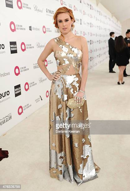 Rumer Willis attends the 22nd Annual Elton John AIDS Foundation Academy Awards viewing party with Chopard at the City of West Hollywood Park on March...
