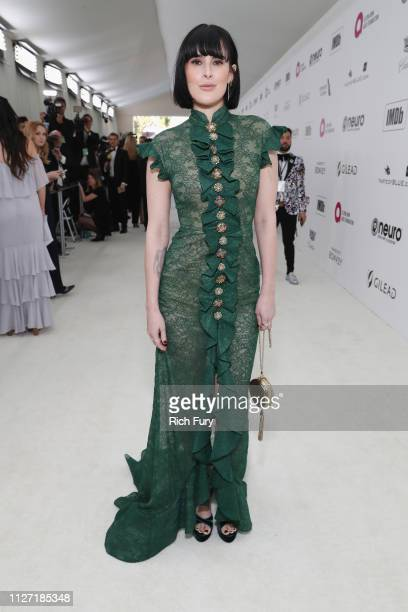 Rumer Willis attends the 27th annual Elton John AIDS Foundation Academy Awards Viewing Party sponsored by IMDb and Neuro Drinks celebrating EJAF and...