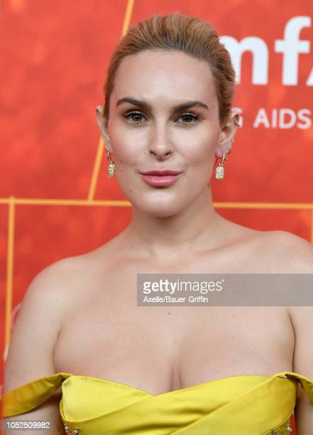 Rumer Willis attends the amfAR Gala Los Angeles 2018 at Wallis Annenberg Center for the Performing Arts on October 18 2018 in Beverly Hills California