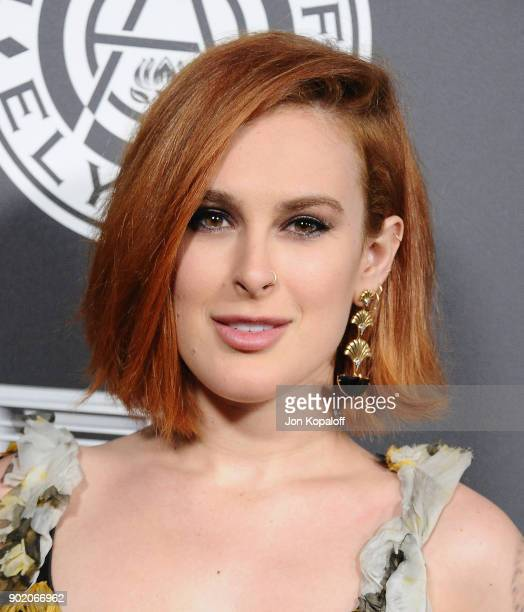 Rumer Willis attends The Art Of Elysium's 11th Annual Celebration Heaven at Barker Hangar on January 6 2018 in Santa Monica California