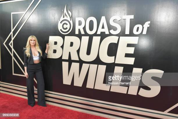 Rumer Willis attends the Comedy Central Roast of Bruce Willis at Hollywood Palladium on July 14 2018 in Los Angeles California