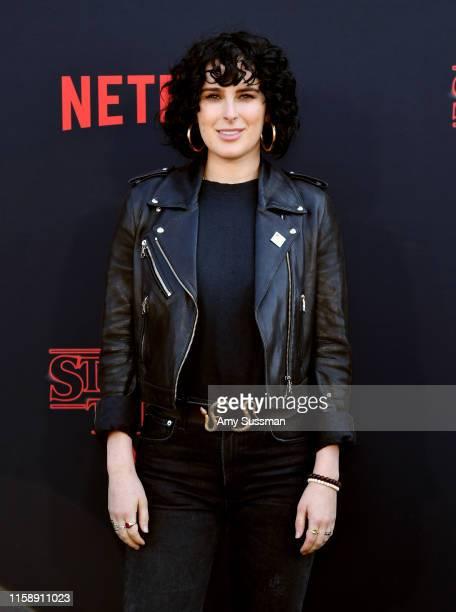 "Rumer Willis attends the premiere of Netflix's ""Stranger Things"" Season 3 on June 28, 2019 in Santa Monica, California."