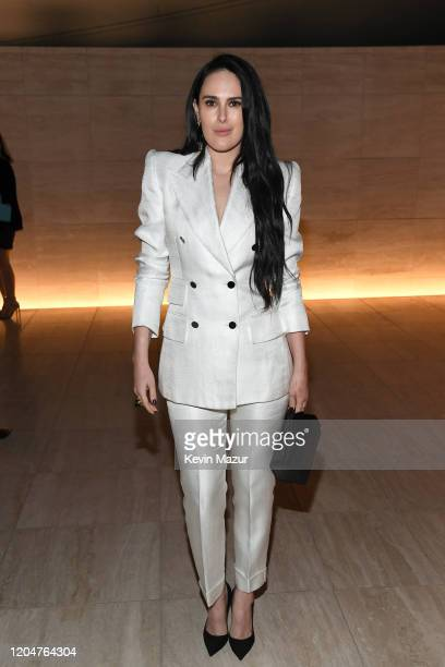 Rumer Willis attends the Tom Ford AW20 Show at Milk Studios on February 07, 2020 in Hollywood, California.