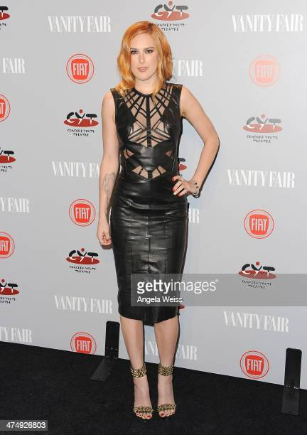 Rumer Willis attends the Vanity Fair Campaign Hollywood 'Young Hollywood' party sponsored by Fiat at No Vacancy on February 25 2014 in Los Angeles...