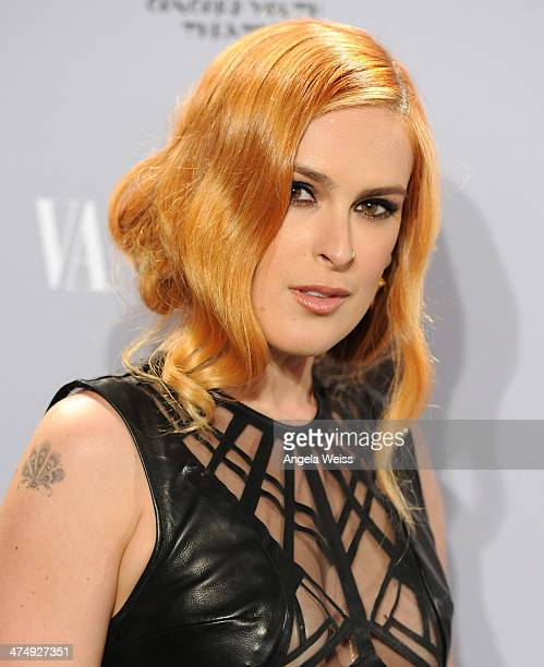 Rumer Willis attends the Vanity Fair Campaign Hollywood 'Young Hollywood' party sponsored by Fiat at No Vacancy on February 25, 2014 in Los Angeles,...