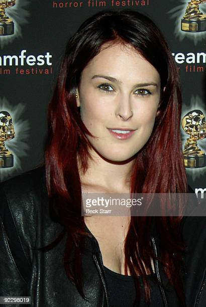 Rumer Willis attends the world premiere of 'Forget Me Not' during Screamfest LA 2009 at the Mann Chinese 6 on October 22 2009 in Los Angeles...