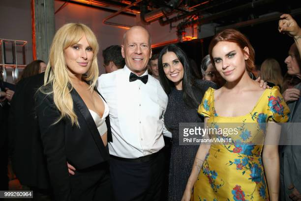 Rumer Willis Bruce Willis Demi Moore and Tallulah Belle Willis attend the after party for the Comedy Central Roast of Bruce Willis at NeueHouse on...