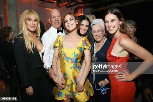 Rumer Willis, Bruce Willis, Tallulah Belle Willis, Demi Moore, Marlene Willis and Scout LaRue Willis attend the after party for the Comedy Central...