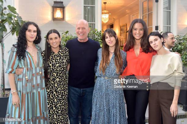 Rumer Willis Demi Moore Bruce Willis Scout Willis Emma Heming Willis and Tallulah Willis attend Demi Moore's 'Inside Out' Book Party on September 23...