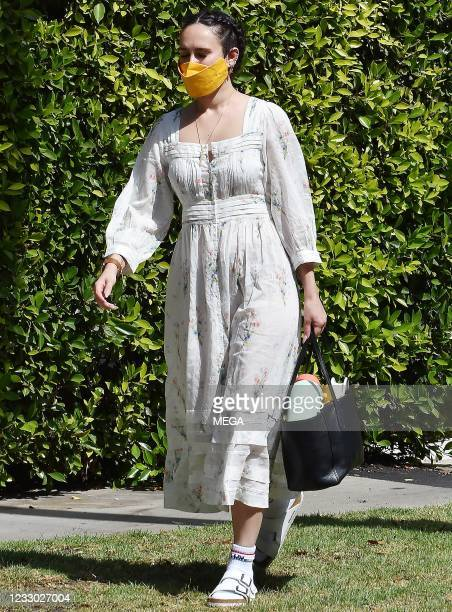 Rumer Willis is seen arriving at her pilates class on May 20, 2021 in Los Angeles, California.